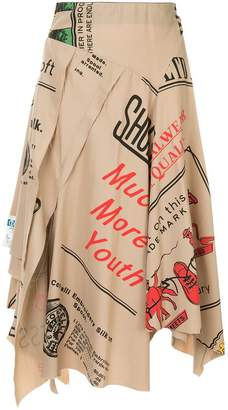 Puma Maison Yasuhiro draped asymmetric skirt