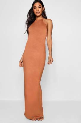 boohoo 90's Neck Basic Jersey Maxi Dress