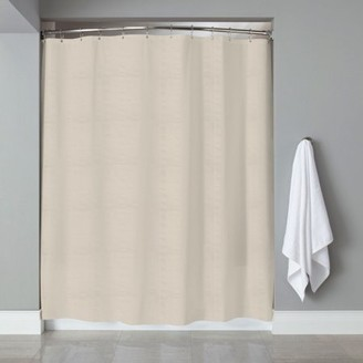 """Hotel Collection Sweet Home Collection Embossed Fabric Shower Curtain/Liner Heartwood 70""""x72"""""""
