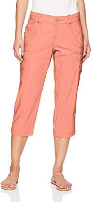 Lee Women's Petite Relaxed Fit Nikki Knit Waist Cargo Capri Pant
