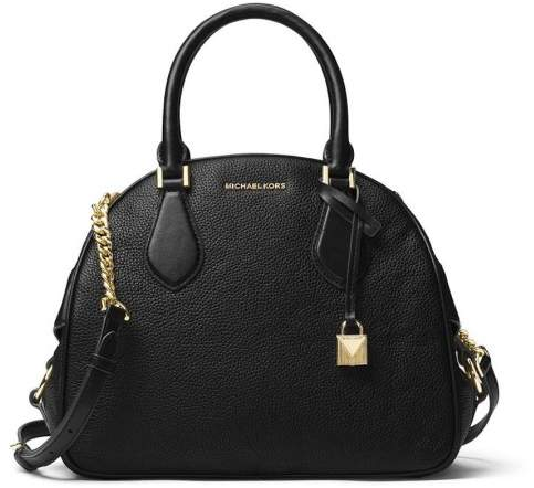 Michael Kors Briar Large Top Zip Bowling Bag - Black - 30F7GB0S7L-001 - ONE COLOR - STYLE