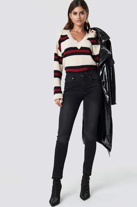 Rut & Circle Rut&Circle Victoria Skinny Raw Jeans Black