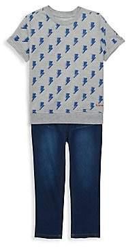 ba04fb44557 Hudson Jeans Little Boy's French Terry Top & Jeans Set