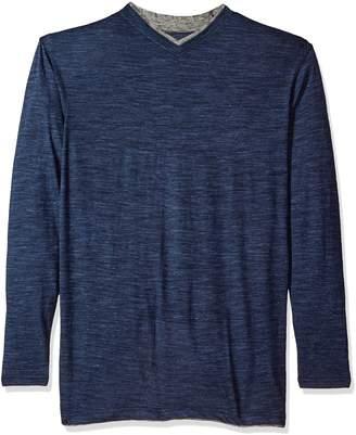 Lee Men's Tipping Long Sleeve Vneck Neck Shirt, Light Blue-1