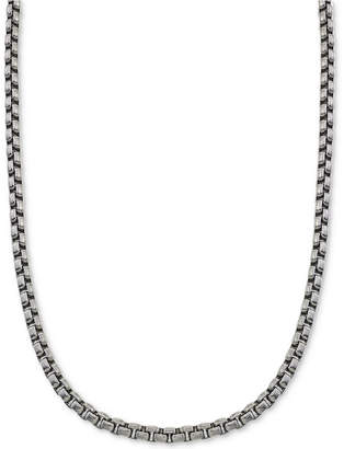 Esquire Men's Jewelry Large Box-Link Chain in Stainless Steel, Created for Macy's