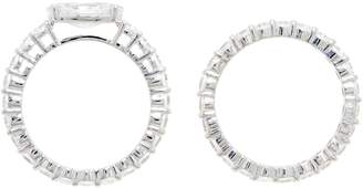 Diamonique East-West Eternity Band Ring Set, Sterling Silver