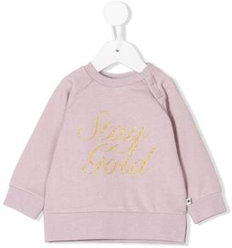 Molo Stay Gold embroidery sweatshirt