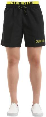Calvin Klein Underwear Double Waistband Logo Swim Shorts