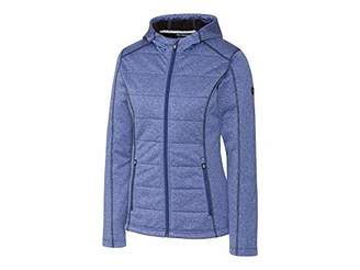 Cutter & Buck Women's Weathertec Jersey Bonded Fleece Altitude Quilted Hood Jacket