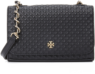 Tory Burch Marion Embossed Shrunken Shoulder Bag $295 thestylecure.com