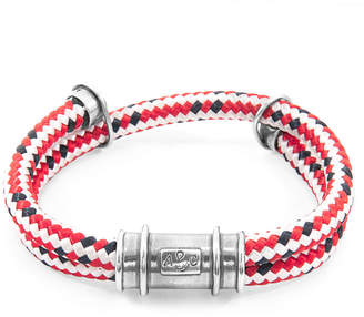 Anchor And Crew Larne Silver & Rope Bracelet