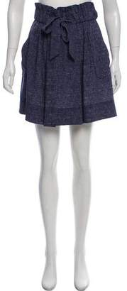 Milly A-Line Mini Skirt