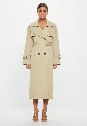 Missguided Camel Trench Coat