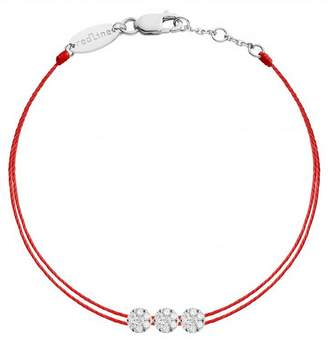 Redline Trillusion Diamond Red Bracelet - White Gold