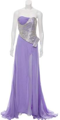 Jovani Silk Embellished Dress