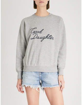 Good American Good Daughter cotton-jersey sweatshirt