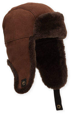 634b4f005ada84 UGG Men's Shearling-Lined Sheepskin Trapper Hat