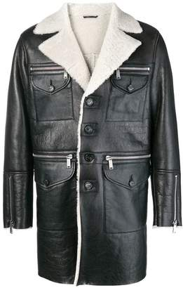 DSQUARED2 shearling lined coat