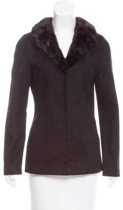 Dolce & Gabbana Fur-Trimmed Wool Jacket