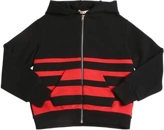 Marni Junior Zip-Up Cotton Sweatshirt