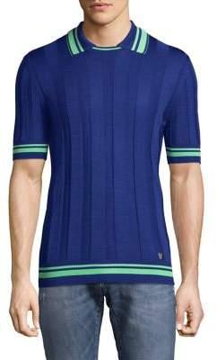 Versace Silk Knit Polo Shirt