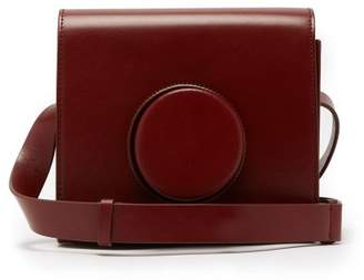 Lemaire Camera Leather Cross Body Bag - Womens - Dark Red