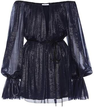 Thierry Mugler Silk off-the-shoulder minidress