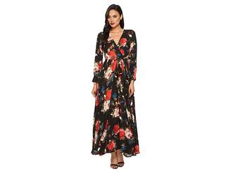 Unique Vintage Long Sleeve Farrah Maxi Dress