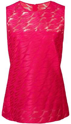 Akris lips embroidered sleeveless top