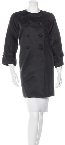 pradaPrada Double-Breasted Knee-Length Coat