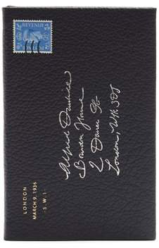 Dunhill Boston Leather Notebook - Navy