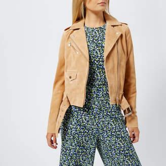 MICHAEL Michael Kors Women's Classic Suede Moto Jacket