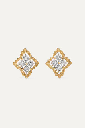 Buccellati Rombi 18-karat White And Yellow Gold Diamond Earrings