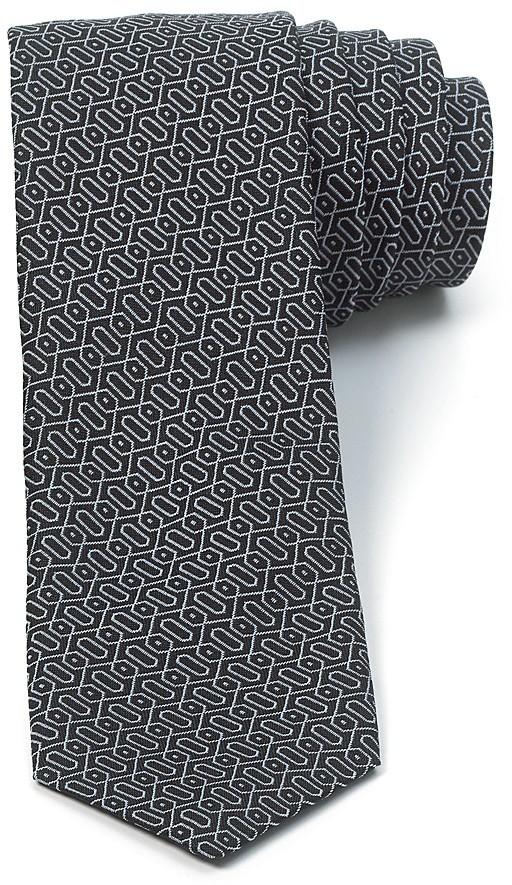 John Varvatos USA Geometric Lines Skinny Tie