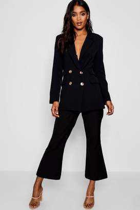 boohoo Cropped Kick Flare Trouser