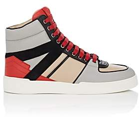 Paul Andrew MEN'S ERIK LEATHER & SUEDE SNEAKERS-BLK, RED, TAN SIZE 7 M