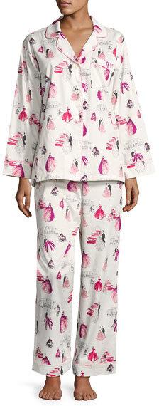 BedHeadBedhead Graphic-Print Long-Sleeve Pajama Set, MET Gala