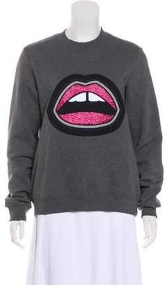 Markus Lupfer Lip Pattern Long Sleeve Sweatshirt