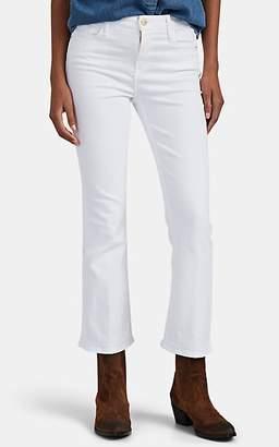 Frame Women's Le Crop Mini Boot Jeans - White