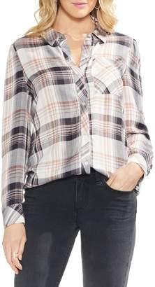 Vince Camuto Menswear Charm Plaid Long Sleeve Top