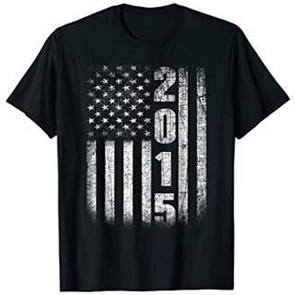 3rd Birthday Gifts Fun Vintage 2015 American USA Flag Shirt
