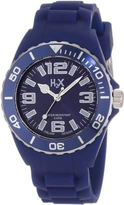 Haurex H2X Women's SB382DB1 Reef Luminous Water Resistant Dark Slate Soft Rubber Watch
