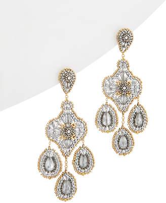 Miguel Ases 14K & Silver Crystal Drop Earrings