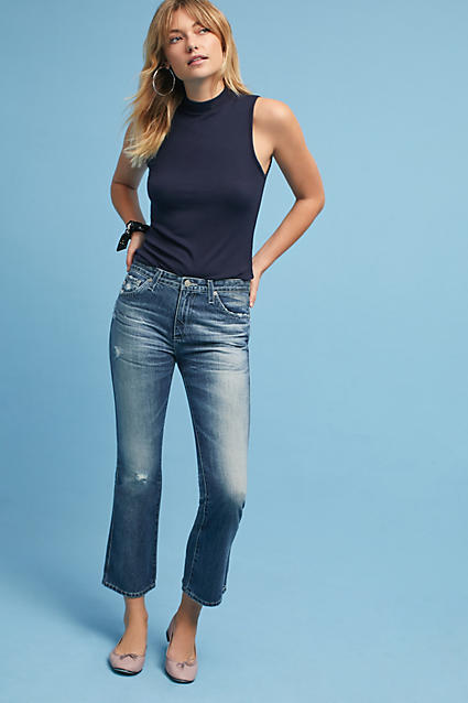 AG Jeans AG The Jodi High-Rise Cropped Flare Jeans