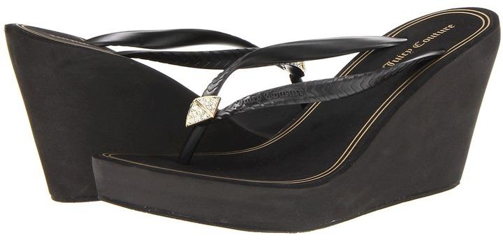 Juicy Couture Brit (Black Rubber) - Footwear