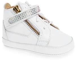 Giuseppe Zanotti Sobja Embellished High Top Crib Shoe