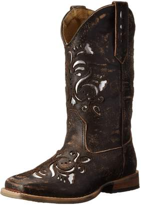 Roper Belle Square Toe Cutout Cowboy Boot