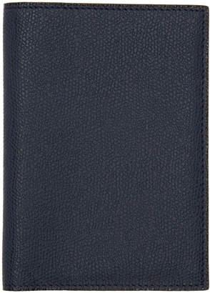 Valextra Navy 3CC Passport Holder
