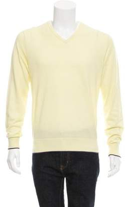 Paul Smith Rib Knit V-Neck Sweater