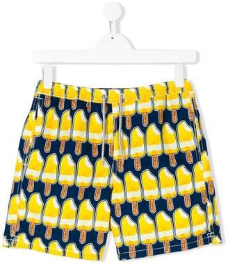 MC2 Saint Barth Kids ice lolly print swim shorts